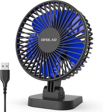 最もパワフルなUSB扇風機 静音 風量3段階切替可能 卓上扇風機