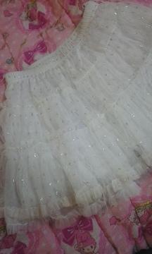 キラキラのラメがかわいいミニスカート150