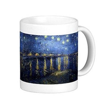 ゴッホ『 ローヌ川の星月夜 』のマグカップ