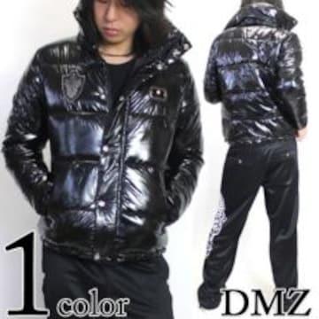 【DMZ】オラオラ.悪羅悪羅♪エンブレムプレート中綿ナイロンジャケットバッグ付