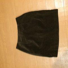 ブラウン ミニタイトスカート