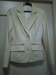 LDprimeアンゴラウールジャケットコートホワイト白スーツOL長袖S