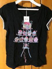 MILK ミルク カップケーキ 半袖Tシャツ 黒