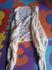 SLY鍵編み ホワイト ジレ