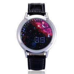 LED腕時計スペースウォッチ レッド ユニセックス 近未来