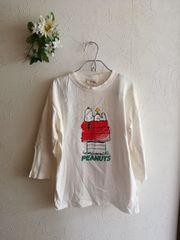 値下げ☆スヌーピー☆七分袖Tシャツ☆ホワイト