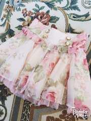 LIZ LISA☆ハイウエスト薔薇柄スカート