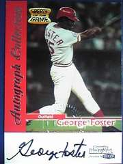 FLEER99 GEORGE.FOSTER・Greats of the Game.Auto直筆サインカード