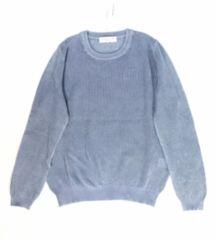 透かし編みセーターサマーニット(L)ウォッシュデニム新品