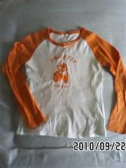 子猫イラストプリントラグラン長袖Tシャツ