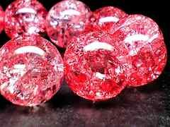 ◆石言葉完璧、冷静、沈着、神秘的◆レッドクラック水晶12mm16粒