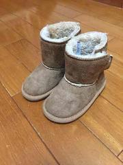 ムートン ブーツ キャメル 15 美品 フワフワ