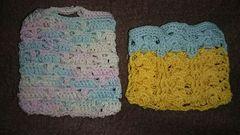 手編みのミニチュアバック二個