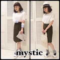 ((( mystic )))ミリタリータイトスカート olive/size2