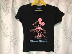 美品ミニーちゃんミニーマウス半袖Tシャツブラック