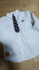 ベビードール BABYDOLL 長袖シャツ ネクタイ付き 120