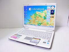 直ぐ使える人気dynabook パールホワイト Windows7 1円スタート