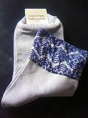 チュチュアンナ花柄刺繍上品可愛いソックス新品