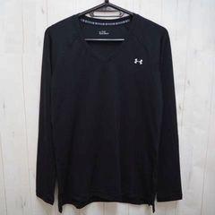 アンダーアーマー UA ヒートギア 長袖Vネックシャツ L 黒