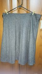 【大きいサイズ】とっても素敵なスカート♪グレー♪新品未使用品