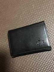 三つ折り財布 ミニサイズ 黒