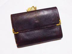【セール】カルティエ/Cartier 型押し革製二つ折り財布
