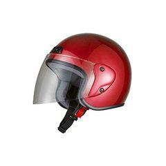 激安商品♪バイクヘルメット ジェット レッド FREEサイズ