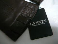 ランバン羊皮革手袋リボン20サイズMブラウン
