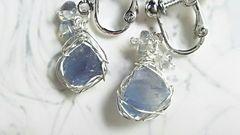 1*蛍石の欠片*イヤリング*silver