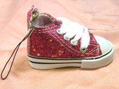 即決新品★スニーカーのストラップ★ピンクラメ★靴