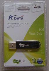 データー音楽保存に4GB USBメモリー
