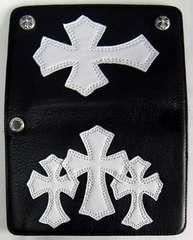 シルバー925クロスボタン ウォレットショート クロスパッチ付
