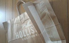 【ホリスター★ショップ袋】HOLLISTER♪紙袋♪アメリカ♪ギフト