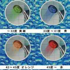 温度によりカラー変色シャワーヘッド【限1送料こみ】