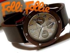 【箱付】1スタ★フォリフォリ/Folli Follie クロノグラフ 腕時計