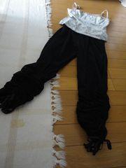 裾絞りリボンレギンス7分丈〜10分丈