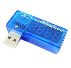 ☆USB電圧電流チェッカー USB電源アンプメーターテスター