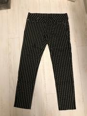 Blackbymoussy  ストライプ アンクル丈 パンツ 24 黒