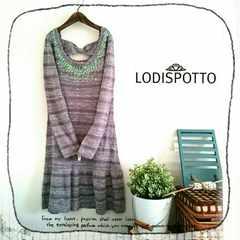 ((LODISPOTTO/ロディスポット))未使用♪スパンコール装飾カラフルMixニットワンピース