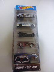 ホットウィール バットマンvsスーパーマン5-PACKバットモービルダッジチャージャー