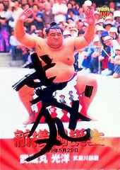 [大相撲]武蔵丸光洋・直筆サインカード 武蔵川 連続55場所勝越し