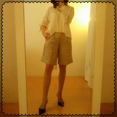 TINY CREEK☆タグ付き涼しげ綿こなれロールアップシャツ L