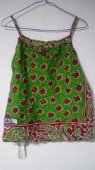 アジアン♪エスニック♪キャミ&スカート 上下*グリーン