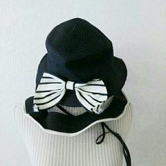 新品タグ付き難あり UV 帽子 ブラック 修理要