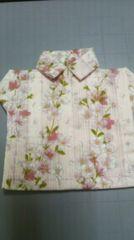 ハンドメイド 布製コースター�A 桜柄