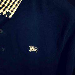 美品BURBERRY BLACKバーバリーブラックレーベル2半袖ポロシャツM