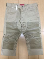 nitraid DOUBLE KNEE ROLL UP PANT(BEIGE/L)(10A/W)