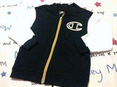 Champion(チャンピオン)綿100%ジャケット黒×金サイズ100�p