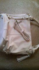 ★新品★INDIVI ホワイト鞄 2way春先に♪