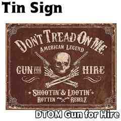 ブリキ看板 ティンサイン DTOM Gun for Hire TSN2007 ドクロ 雑貨 インテリア